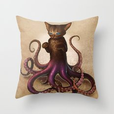 Octopussy Throw Pillow