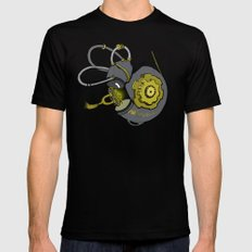 Steampunk Anatomy Cochlea Black Mens Fitted Tee SMALL
