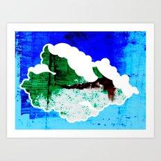 Cloud Graphic #2 Art Print