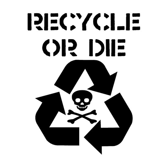 Recycle Black Art Print