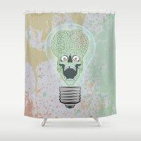 Think Martian  Shower Curtain