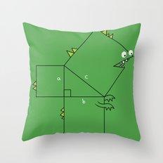Pythagosaurus Throw Pillow