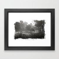 Foggy Path Framed Art Print