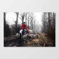 Red Coats. Canvas Print