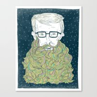 Hipster Beards Canvas Print