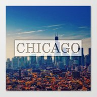Canvas Print featuring Chicago City by Evan Smith
