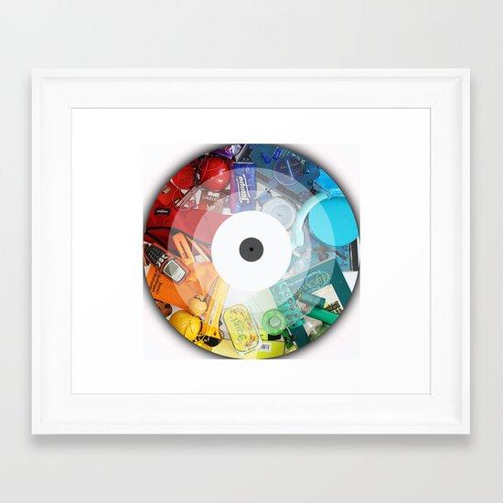 Color Circle Framed Art Print