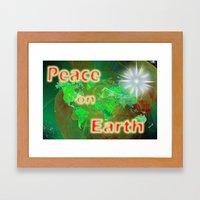 Peace On Earth Framed Art Print