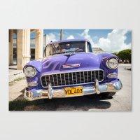 Purple Chevy Canvas Print