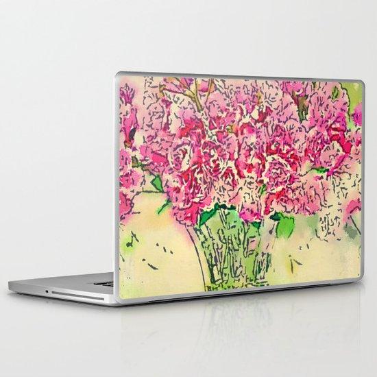 Coming Up Roses -- Pink Rose Flower Bouquet Waterlogue Paris Apt Chic Still Life Laptop & iPad Skin