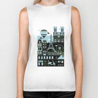 Biker Tank featuring Paris by koivo