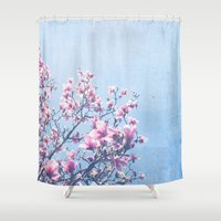 She Bloomed Everywhere S… Shower Curtain