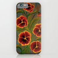 iPhone & iPod Case featuring Pansies-2 by maggs326