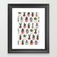 CACTI | Watercolor Succu… Framed Art Print