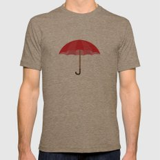Red Umbrella Mens Fitted Tee Tri-Coffee SMALL