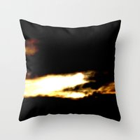 Dragon In A Clouds. Throw Pillow