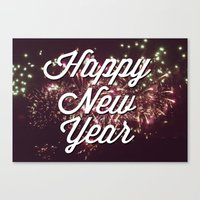 New Year Canvas Print