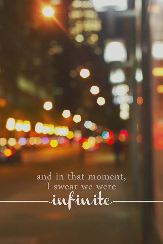 perks of being a wallflower - we were infinite Art Print
