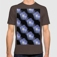 Morning Glory Illusion On Black Mens Fitted Tee Brown SMALL