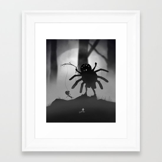 Limbo Kid Framed Art Print