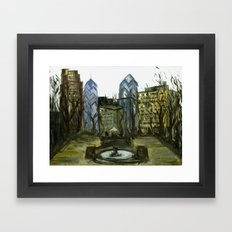 Rittenhouse Square in the Winter Framed Art Print