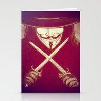 V for Vendetta4 Stationery Cards