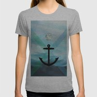 anchor Womens Fitted Tee Athletic Grey SMALL