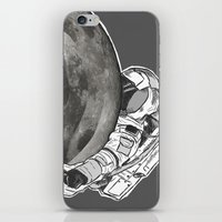 Troubled Moons and Spacemen iPhone & iPod Skin