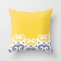 Modern Filigree  Throw Pillow