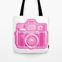 I Still Shoot Film Holga Logo - Pink Tote Bag