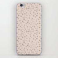 PolkaDots-Taupe On Peach iPhone & iPod Skin
