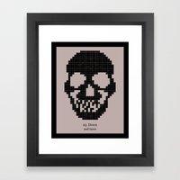 25. Down Framed Art Print