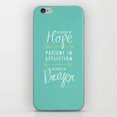 Romans 12:12 iPhone & iPod Skin