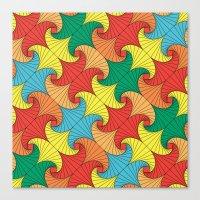 Dancing squares Canvas Print
