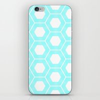 Nieuwland Powder Blue Hexagons Pattern iPhone & iPod Skin