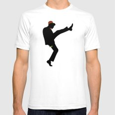 The 11th Doctor of Silly Walks Mens Fitted Tee SMALL White