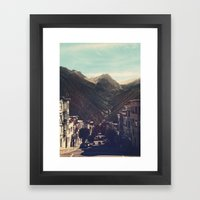 Out Of Town Framed Art Print