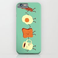 illustration iPhone & iPod Cases featuring Let's All Go And Have Breakfast by Teo Zirinis
