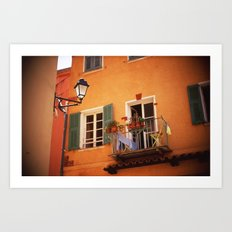 French Riviera Landscape Art Print