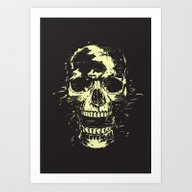 Scream (gold) Art Print