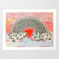 Lush Rainbow Art Print