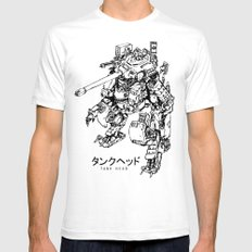 TankHead (Lineart)  Mens Fitted Tee White SMALL