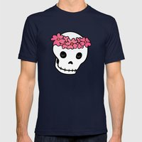 Princess Skull ver.2 Mens Fitted Tee Navy SMALL