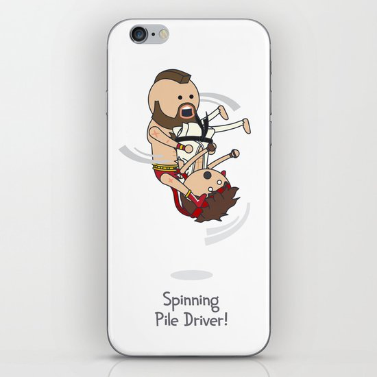 Spinning Pile Driver iPhone & iPod Skin