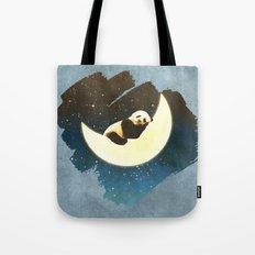 Sleeping Panda on the Moon Tote Bag