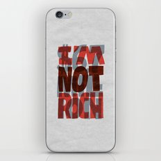 Newt's Not Rich iPhone & iPod Skin