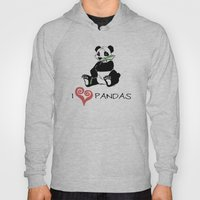 I Love Pandas Design Hoody