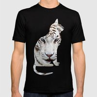 Big And Small Cat. Mens Fitted Tee Black SMALL