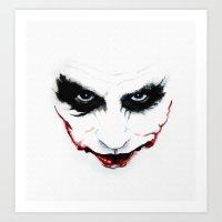 joker Art Prints featuring Joker by DirtyArt