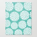 Turquoise Blossoms Canvas Print